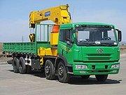 Бортовой грузовик Faw 8x4 с краном-манипулятором 16 т «Азия Трэйд»