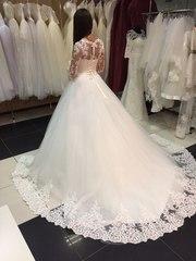 Свадебное платье для королевы со шлейфом