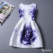 Платье ткань 3d,  принт